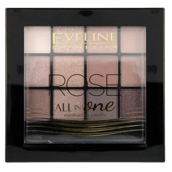 EVELINE ALL IN ONE PALETA 12 CENI ROSE